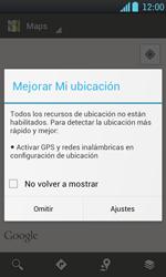 Uso de la navegación GPS - LG Optimus L7 - Passo 4