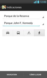 Uso de la navegación GPS - LG Optimus L5 II - Passo 16