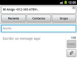 Envía fotos, videos y audio por mensaje de texto - Samsung Galaxy Y Pro GT - B5510 - Passo 9
