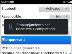 Conecta con otro dispositivo Bluetooth - BlackBerry Bold 9720 - Passo 12