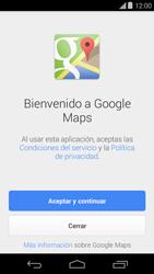 Uso de la navegación GPS - Motorola Moto E (1st Gen) (Kitkat) - Passo 4