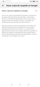 Realiza una copia de seguridad con tu cuenta - Huawei Mate 20 Pro - Passo 6