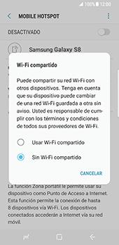Configura el hotspot móvil - Samsung Galaxy S8 - Passo 7