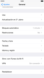 Restaura la configuración de fábrica - Apple iPhone 6 - Passo 4