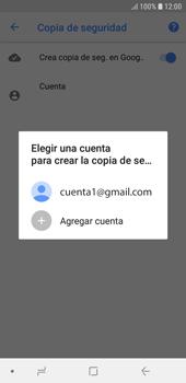 Realiza una copia de seguridad con tu cuenta - Samsung J6 - Passo 9