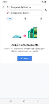 Uso de la navegación GPS - Samsung Galaxy A10 - Passo 12