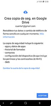 Realiza una copia de seguridad con tu cuenta - Samsung A7 2018 - Passo 10