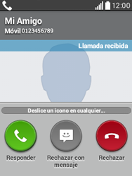 Contesta, rechaza o silencia una llamada - LG L20 - Passo 3