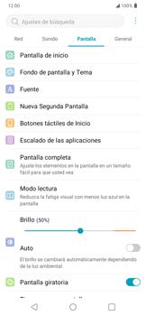 Cambiar configuraciones de pantalla - LG K40S - Passo 9