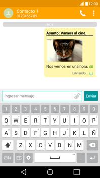 Envía fotos, videos y audio por mensaje de texto - LG V10 - Passo 19