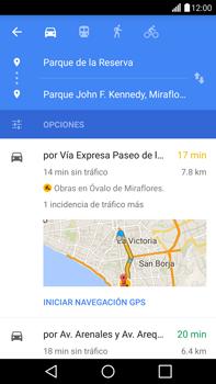 Uso de la navegación GPS - LG G4 - Passo 17