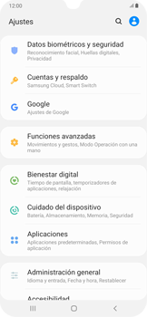 Habilitar seguridad de huella digital - Samsung Galaxy A30 - Passo 3