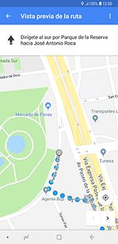 Uso de la navegación GPS - Samsung A7 2018 - Passo 17