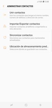 ¿Tu equipo puede copiar contactos a la SIM card? - Samsung Galaxy S8+ - Passo 7