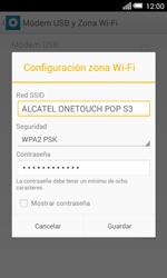 Configura el hotspot móvil - Alcatel Pop S3 - OT 5050 - Passo 7