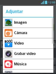 Envía fotos, videos y audio por mensaje de texto - LG Optimus L3 II - Passo 12