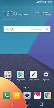 Envía fotos, videos y audio por mensaje de texto - LG Q6 - Passo 1