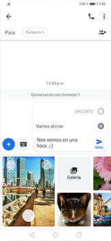 Envía fotos, videos y audio por mensaje de texto - Huawei P30 Pro - Passo 10