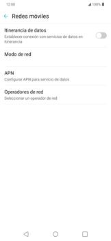 Activa o desactiva el roaming de datos - LG K40S - Passo 5