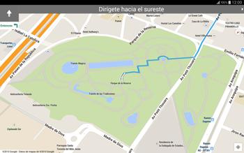 Uso de la navegación GPS - Samsung Galaxy Note Pro - Passo 21