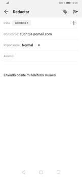 Cómo enviar un correo electrónico - Huawei P30 - Passo 8