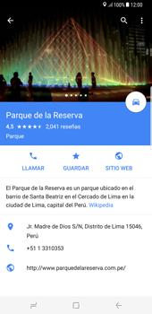 Uso de la navegación GPS - Samsung Galaxy S8+ - Passo 12