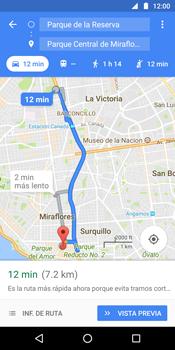 Uso de la navegación GPS - Motorola Moto G6 Plus - Passo 14