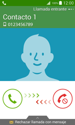 Contesta, rechaza o silencia una llamada - Samsung Galaxy Core Prime - G360 - Passo 3
