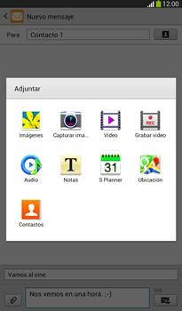 Envía fotos, videos y audio por mensaje de texto - Samsung Galaxy Tab 3 7.0 - Passo 12