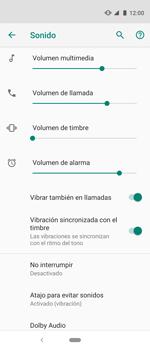 Cómo activar el modo de vibración o silencio - Motorola One Vision (Single SIM) - Passo 6