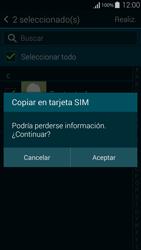 ¿Tu equipo puede copiar contactos a la SIM card? - Samsung Galaxy Alpha - G850 - Passo 11