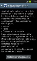 Restaura la configuración de fábrica - Samsung Galaxy Win - I8550 - Passo 6