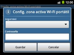 Configura el hotspot móvil - Samsung Galaxy Y Pro GT - B5510 - Passo 9