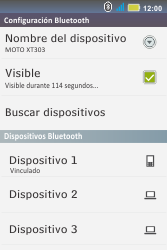 Conecta con otro dispositivo Bluetooth - Motorola MotoSmart Me  XT303 - Passo 9