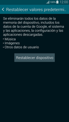 Restaura la configuración de fábrica - Samsung Galaxy Alpha - G850 - Passo 6