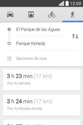 Uso de la navegación GPS - LG L40 - Passo 17