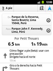 Uso de la navegación GPS - Samsung Galaxy Y  GT - S5360 - Passo 20
