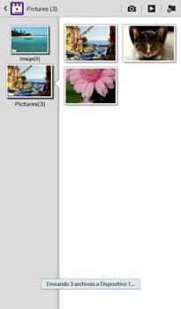 Transferir fotos vía Bluetooth - Samsung Galaxy Tab 3 7.0 - Passo 13