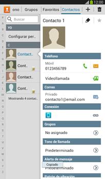 ¿Tu equipo puede copiar contactos a la SIM card? - Samsung Galaxy Tab 3 7.0 - Passo 10