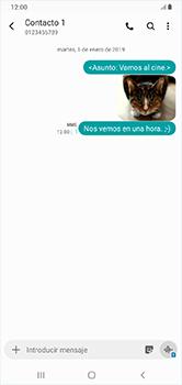 Envía fotos, videos y audio por mensaje de texto - Samsung Galaxy A10 - Passo 23