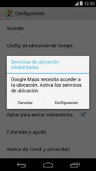 Uso de la navegación GPS - Motorola Moto E (1st Gen) (Kitkat) - Passo 9