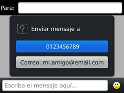 Envía fotos, videos y audio por mensaje de texto - BlackBerry Bold 9720 - Passo 7
