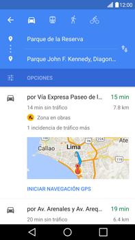 Uso de la navegación GPS - LG V10 - Passo 18