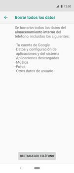 Restaura la configuración de fábrica - Motorola One Vision (Single SIM) - Passo 8