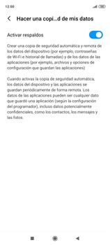 Realiza una copia de seguridad con tu cuenta - Xiaomi Redmi Note 9 Pro - Passo 8