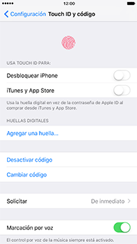 Activa o desactiva el uso del código de seguridad - Apple iPhone 7 Plus - Passo 9