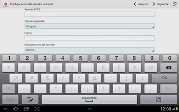 Configura tu correo electrónico - Samsung Galaxy Note 10-1 - N8000 - Passo 11
