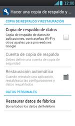 Restaura la configuración de fábrica - LG Optimus L7 - Passo 5
