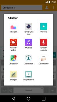 Envía fotos, videos y audio por mensaje de texto - LG V10 - Passo 13