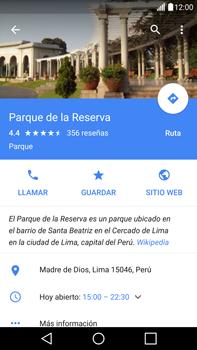 Uso de la navegación GPS - LG V10 - Passo 11